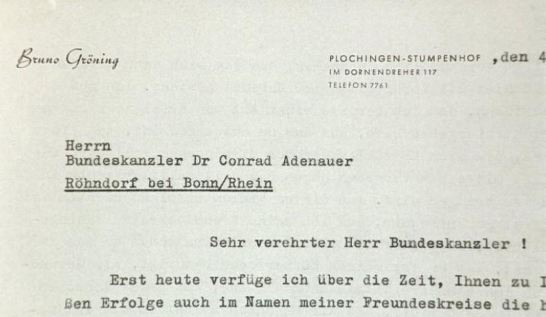 an Adenauer